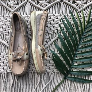 Sperry Top Sider Tan Boat Shoes Size 8